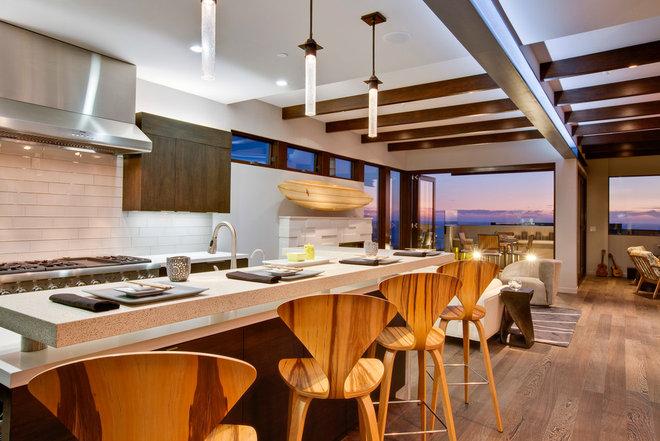 Beach Style Kitchen by Luke Gibson Photography