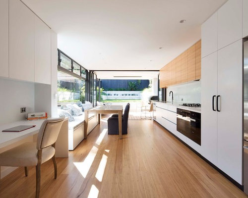 This Is An Example Of A Modern Single Wall Eat In Kitchen Sydney