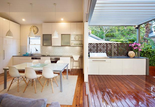 ビーチスタイル キッチン by Michelle Walker architects