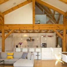 Farmhouse Kitchen by Linda Chapman Architect