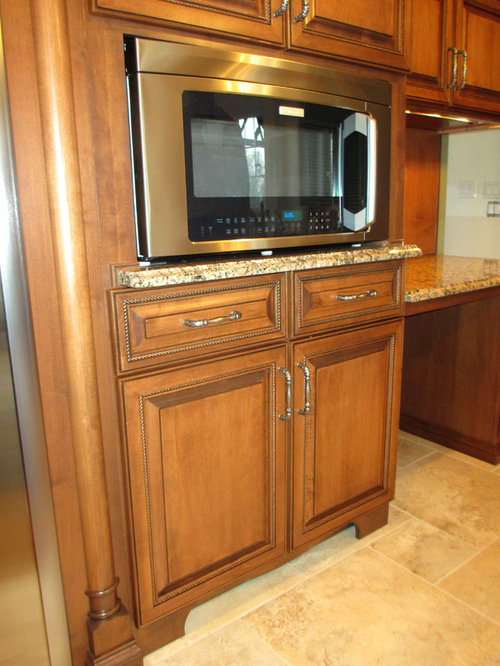 Maple Cabinets With Cherry Stain And Mocha Glaze