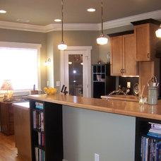 Eclectic Kitchen Maple Kitchen Black Trim Craftsman
