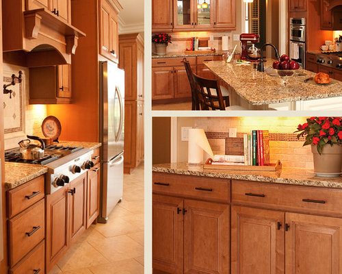 granite countertops maple cabinets houzz