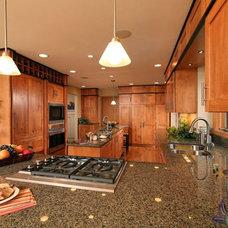 Transitional Kitchen by Traci Rauner Design
