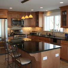 Traditional Kitchen by Mary Porzelt of Boston Kitchen Designs