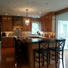 Rustic Kitchen by Cabinets By Amy & Lauren