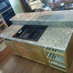 Maraba Granite Counter-top - 3570.00 include, Maraba Counter-top, 18 gauge 50*50 under mount stainless steel sink, 3/8 bevel.