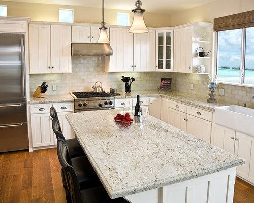 Kitchen Backsplash For Cream Cabinets cream backsplash | houzz