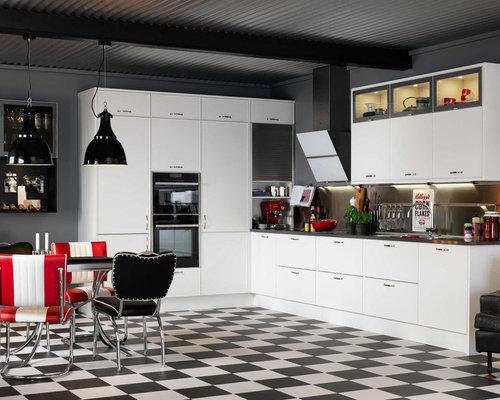 skandinavische k chen mit linoleumboden ideen bilder. Black Bedroom Furniture Sets. Home Design Ideas
