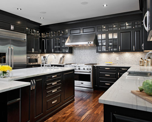black cabinet kitchens pictures black cabinets home design ideas pictures remodel and decor 12346