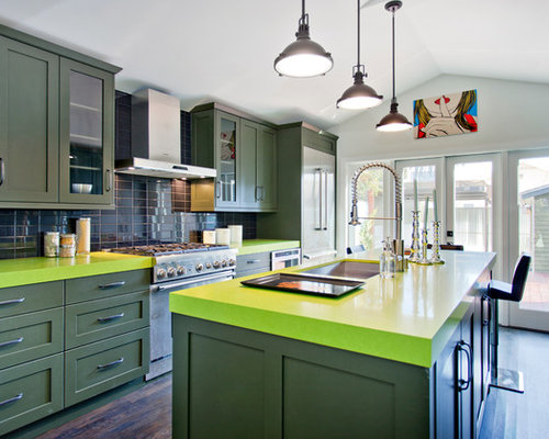 pictures of wood kitchen cabinets green countertops houzz 7495