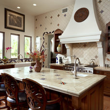 Mediterranean Kitchen by CGN Designs LLC