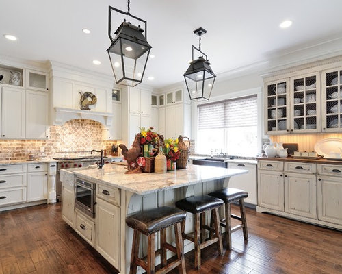 brick kitchen flooring brick backsplash houzz 1790