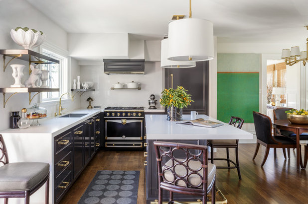 Transitional Kitchen by Laura Hunt Design