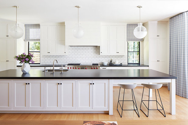 Transitional Kitchen by Kelly Hohla Interiors