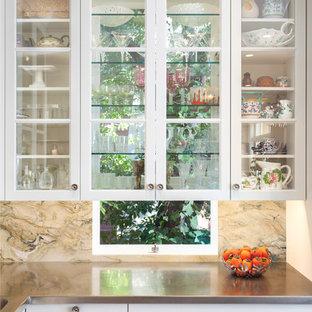 Gl Shelves In Front Of Window Houzz
