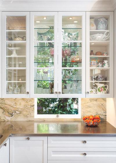 Great Idea Windows Behind Kitchen Cabinets