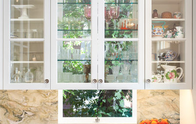 Great Idea: Windows Behind Kitchen Cabinets