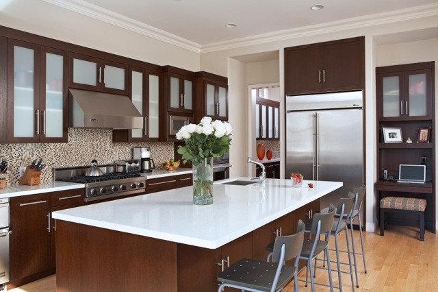 Contemporary Kitchen by Joani Stewart-Georgi - Montana Ave. Interiors