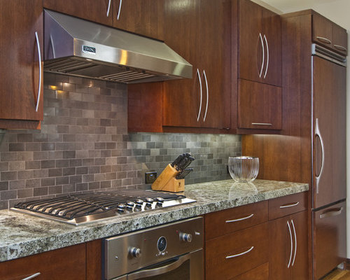 Colored backsplash tile home design ideas pictures for Kitchen backsplash images on houzz