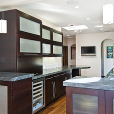 Transitional Kitchen by Studio S Squared Architecture, Inc.