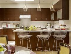 New Boston Condo With Tangerine Tango Kitchen Cabinets