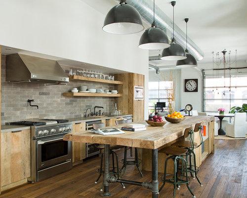 Cuisine industrielle photos et id es d co de cuisines for Comcuisine industrielle deco