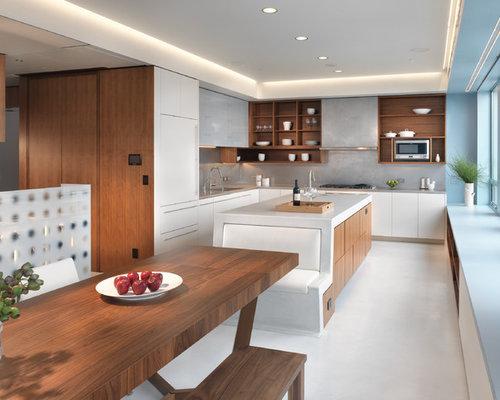 luxuriöses essbereich design im penthouse