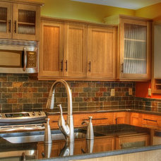Transitional Kitchen by CCS Woodworks Inc.
