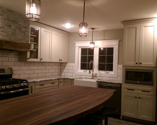 Lovely Marlette Transitional Painted Mushroom Cabinets And Sage Island