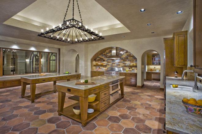 Mediterranean Kitchen by Jon Luce Builder