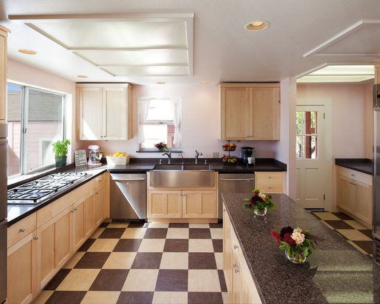 kitchen linoleum floor | houzz