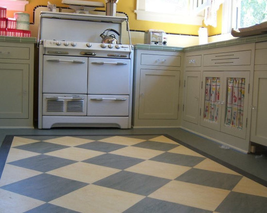 retro kitchen flooring | houzz