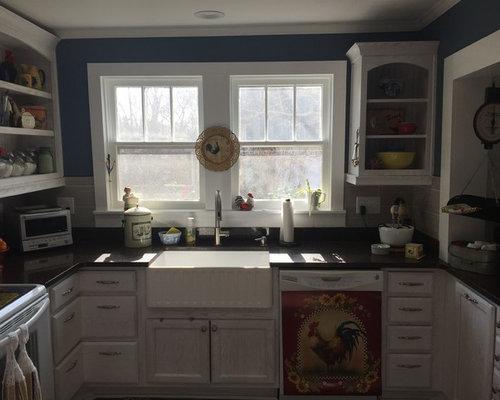 shabby chic style k chen mit laminatboden ideen bilder. Black Bedroom Furniture Sets. Home Design Ideas