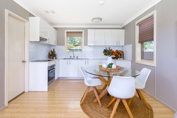 Transitional Kitchen by Homes On Trend - Property Styling