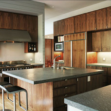 Transitional Kitchen by Schwartz and Architecture