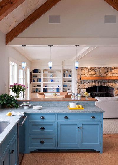 Beach Style Kitchen By Elizabeth Swartz Interiors