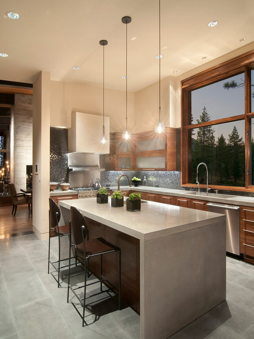 waterfall kitchen island houzz unique kitchen island houzz