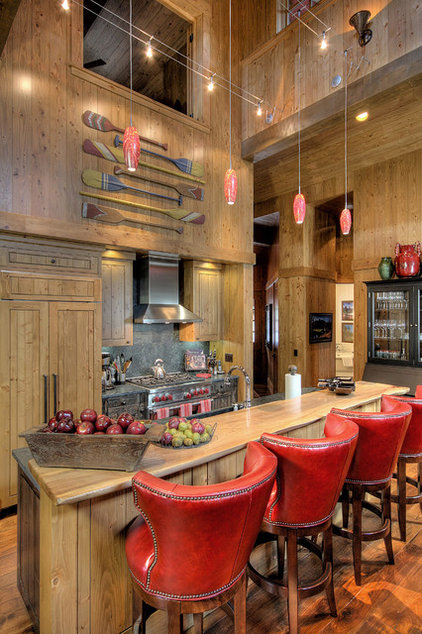 Rustic Kitchen by Studio V Interior Design