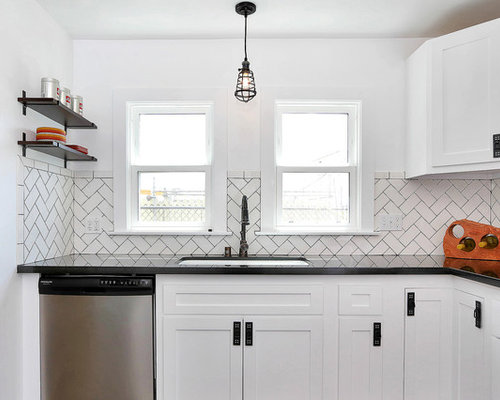 Herringbone Subway Tile Backsplash | Houzz