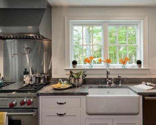 Farmhouse Kitchen Sinks With Drainboard farmhouse sink with drainboard | houzz