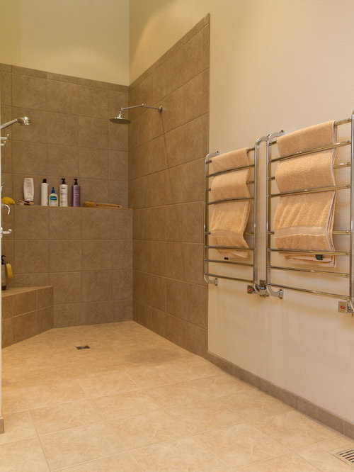 Master Bathroom with Large Open Shower and Closet