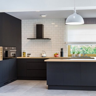 Matte Black Modern Kitchen