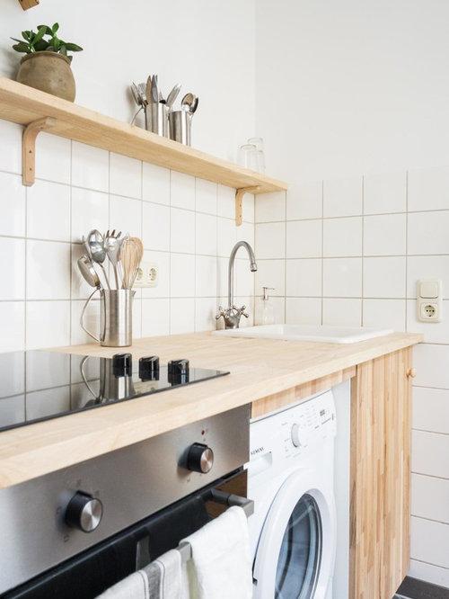 Einzeilige Skandinavische Küchen Ideen, Design & Bilder   Houzz
