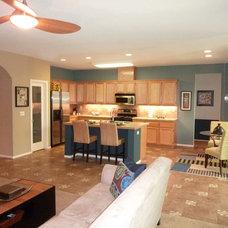 Transitional Kitchen by Nestology Interiors