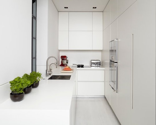 contemporary white kitchen design ideas  remodel pictures  houzz, Kitchen design