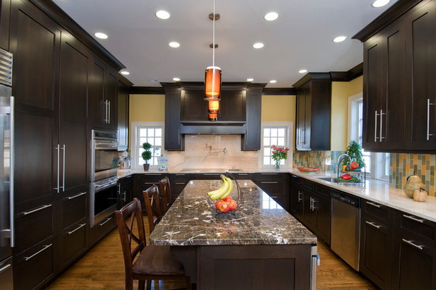 Contemporary Kitchen by Granite State Cabinetry