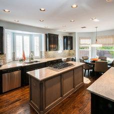 Transitional Kitchen by Stephanie Kratz Interiors