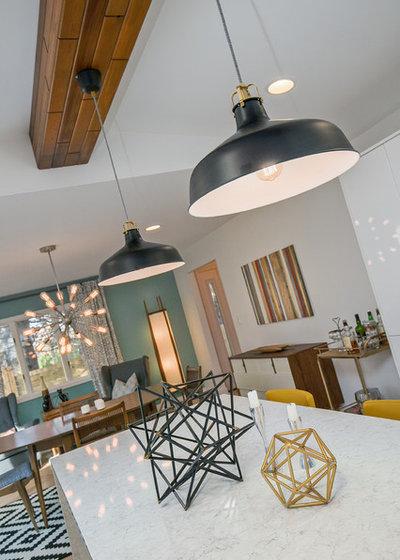 Midcentury Kitchen by CVI Design - Carly Visser