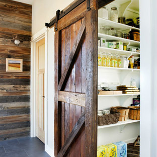 Kitchen - rustic kitchen idea in Denver